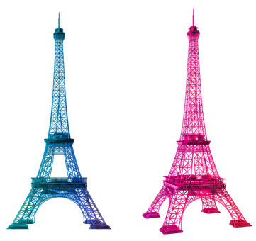 Eiffel Tower, Colorful, France, French, City, Football