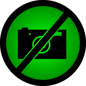 Do Not Take Photos, A Ban On Taking Pictures, Green