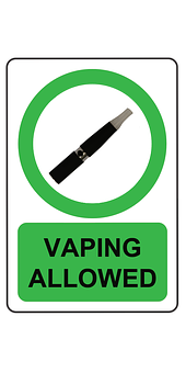 Vaping, Allowed, E Cig, Vaporizer, Green