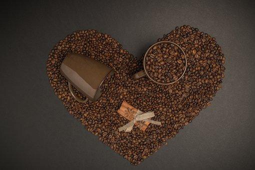 Coffee, Mug, Heart, Caffeine, Food