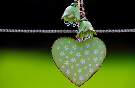 Heart, Love, Romantic, Symbol, Mother's Day, Green