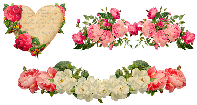 Valentine's Day Décor, Hearts, Roses, Vintage