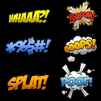 Comic Halftone, Speech Bubbles, Frame, Comic, Hero, Pow