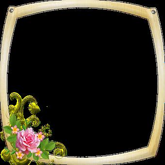 Wood Frame, Frame, Metal Frame, Gemstones, Ornate