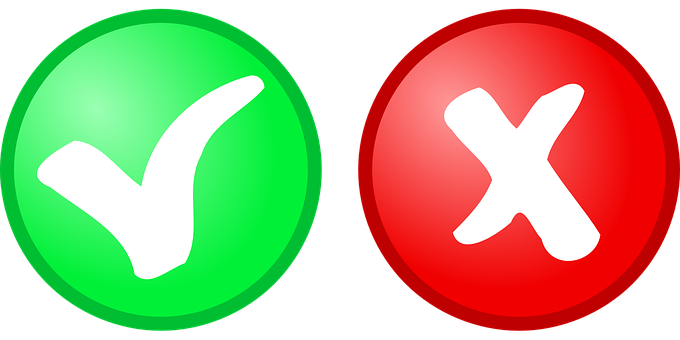 Button, Yes, No, Red, Green, Icon, Symbol, Positive