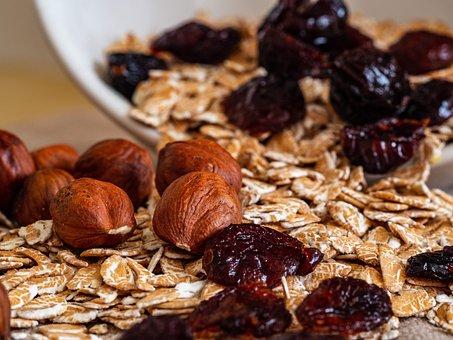 Bowl, Food, Cereal, Breakfast, Nuts, Flakes, Spelt