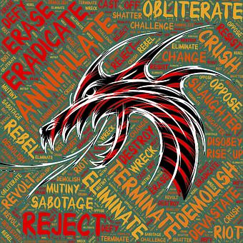 Hatred, Spite, Anger, Rage, Dragon