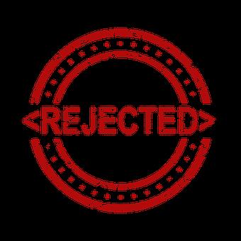 Rejected, Stamp, Denied, Reject, Rejection, Decline