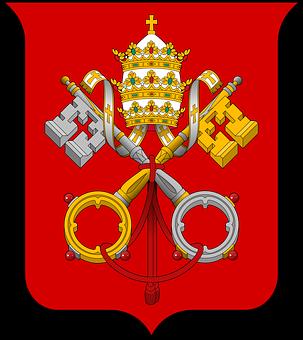 Red, City, Cross, Ribbon, Keys, Coat, Crown, Arms
