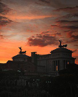 Rome, Italy, Sunset, Architecture, Europe, City