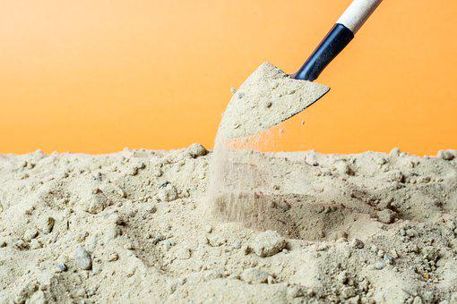Black, Bury, Crumble, Manual, Orange, Sand, Shovel