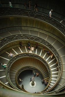 Staircase, Rome, Vatican, Snail, Stairs, Italy