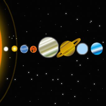 Planets, Galaxy, Space, Moon, Universe, Earth, Stars
