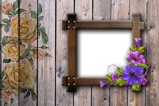 Wood, Wall, Boards, Brown, Roses, Yellow