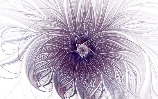 Purple, Lavender, Wisps, White
