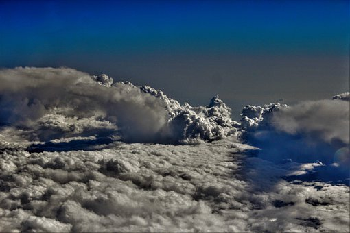 Clouds, Sky, Above The Clouds, Cloud Cover, Contrasts