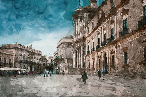 Watercolour, Painting, Art, Effect, Colourful, Print