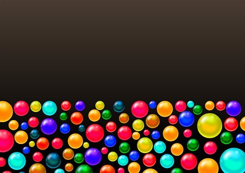 Illustration, Background, Wallpaper, Balls, Color