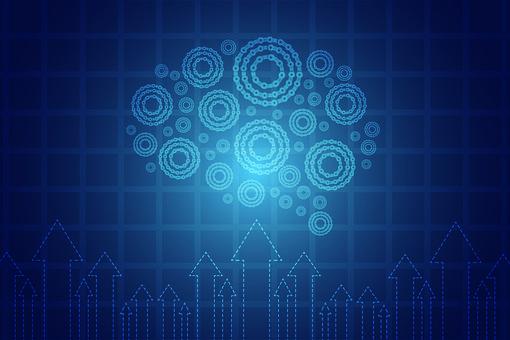 Chart, Business, Concept, Success, Up, Blue, Finance
