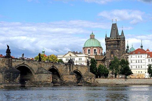 Tower, Bridge, Charles Bridge, Statuary