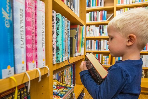 Book, Library, Child, Learn, Education, Read, Bookcase