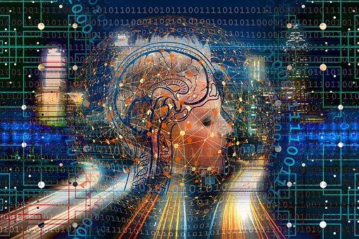 Transformation, Web, Brain, Network, City, Skyline