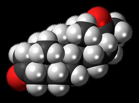 Dihydroprogesterone, Steroid, Hormone, Molecule, Model