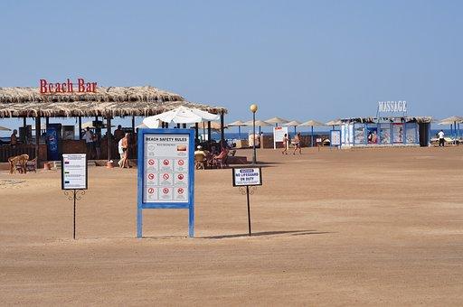 Beach, Egypt, Sea, Hotel, Beach Bar, Egyptian, Hurghada