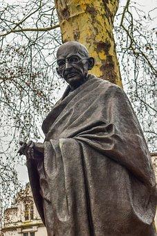 Mahatma, Ghandi, Statue, Indian, Gandhi, Leader