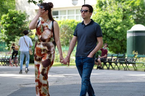 Couple, People, Young, Woman, Man, Glasses, Sunglasses,
