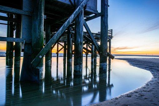 North Sea, Spo, Vacations, Pile Construction, Coast