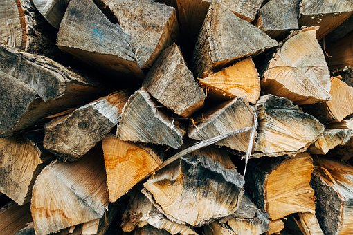 Wood, Fire, Campfire, Heat, Stack, Renewable, Forest