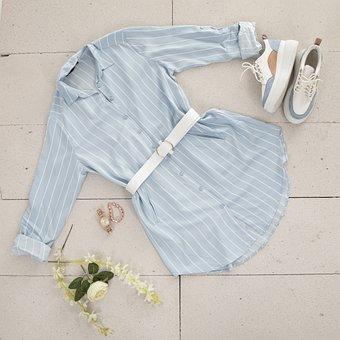 Shirt, Time, Jewelry, Bracelet, Shoes, Kemer, Blue