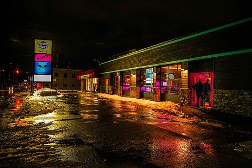 Signs, Neon, Open, Night, Light, Signage, Bar, Urban