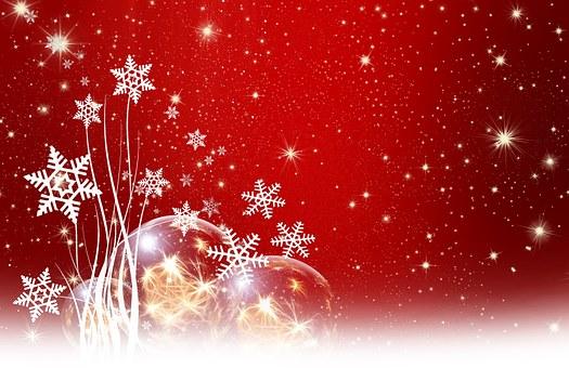 Red, White, Snow, Silhouette, Christmas