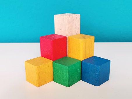 Stones, Blocks, Wooden Building Blocks, Wall, Metaphor