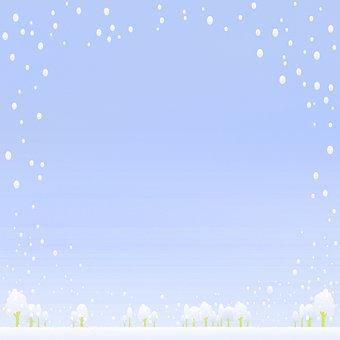 Digital Paper, Snow Background, Trees, Snow, Winter