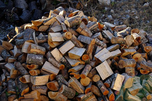 Firewood, Holzstapel, Wood, Wood For The Fireplace