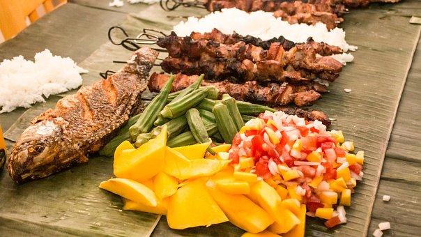 Boodle Fight, Grilled, Food, Vegetables, Barbeque