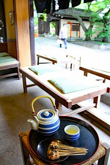 Kyoto, Cafe, Japan, Japanese, Tea, Food, Table