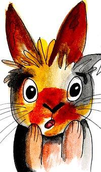 Rabbit, Cute, Bunny, Cartoon, Silly, Adorable, Fun