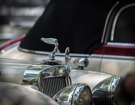 Cool Figure, Chrome, Auto, Vehicle, Oldtimer, Metal