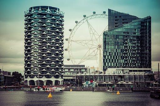 Melbourne, Docklands, City, Cityscape, Corporate, Glass
