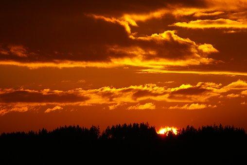 Sunset, Landscape, Clouds, Nature, Sky, Evening, Sun