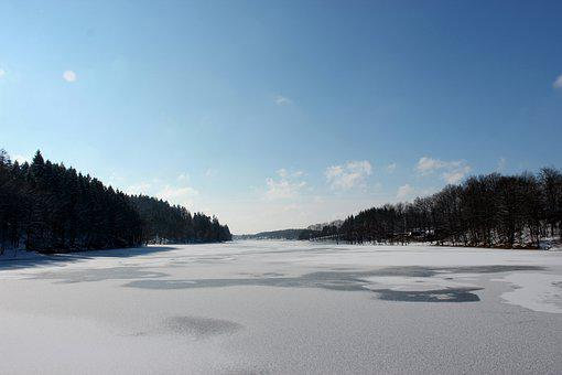 Lake, Winter, Ice, Wintry, Cold, Frost