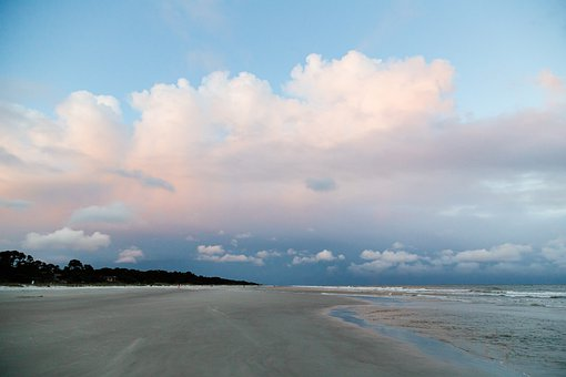 Beach, Cloud, Hilton Head, Sea, Ocean