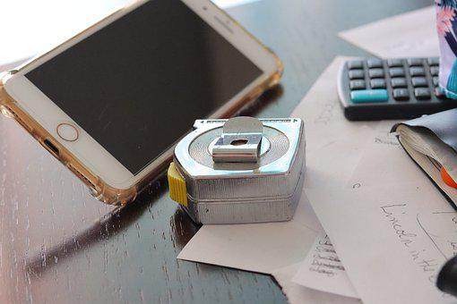 Tape Measure, Messy Desk, To-do, Lists, Notes, Iphone