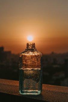 Glass, Twilight, Sun, Sunset, Light, Dusk, Evening