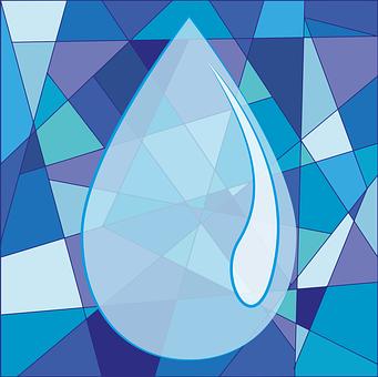 Water, Drop, Blue, Drip, Liquid, Purity