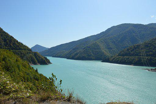Svaneti, Georgia, Reservoir, More, Water